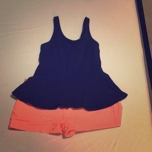 Express size 4 coral shorts